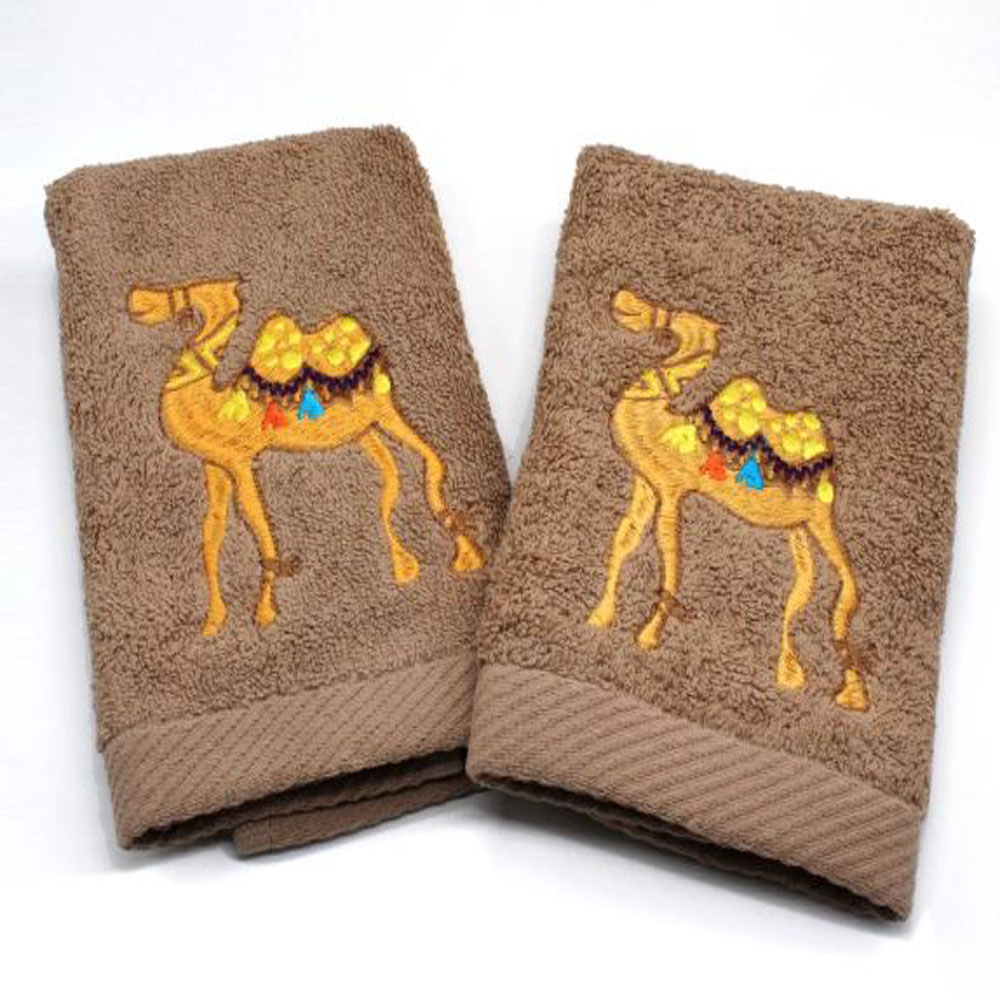 Guest Towels Set of 2 Camel