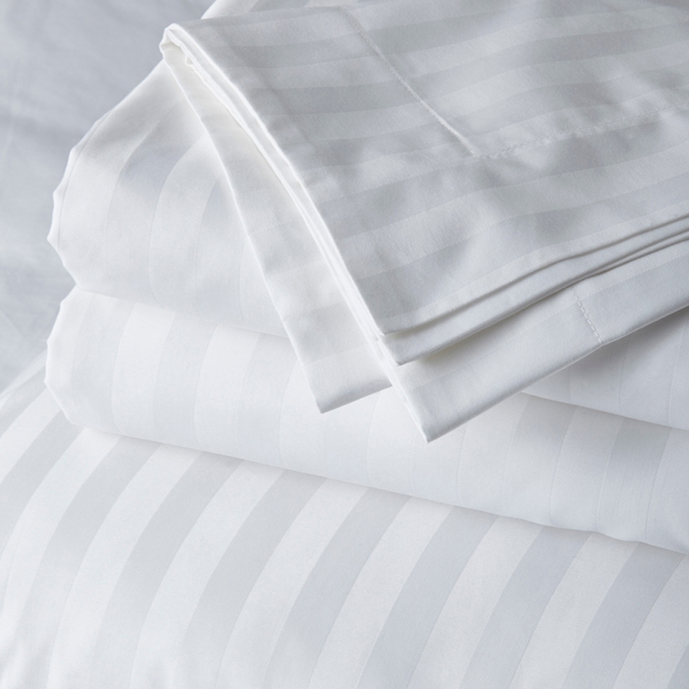 Cambridge Stripe Bed Linen Flat Sheet