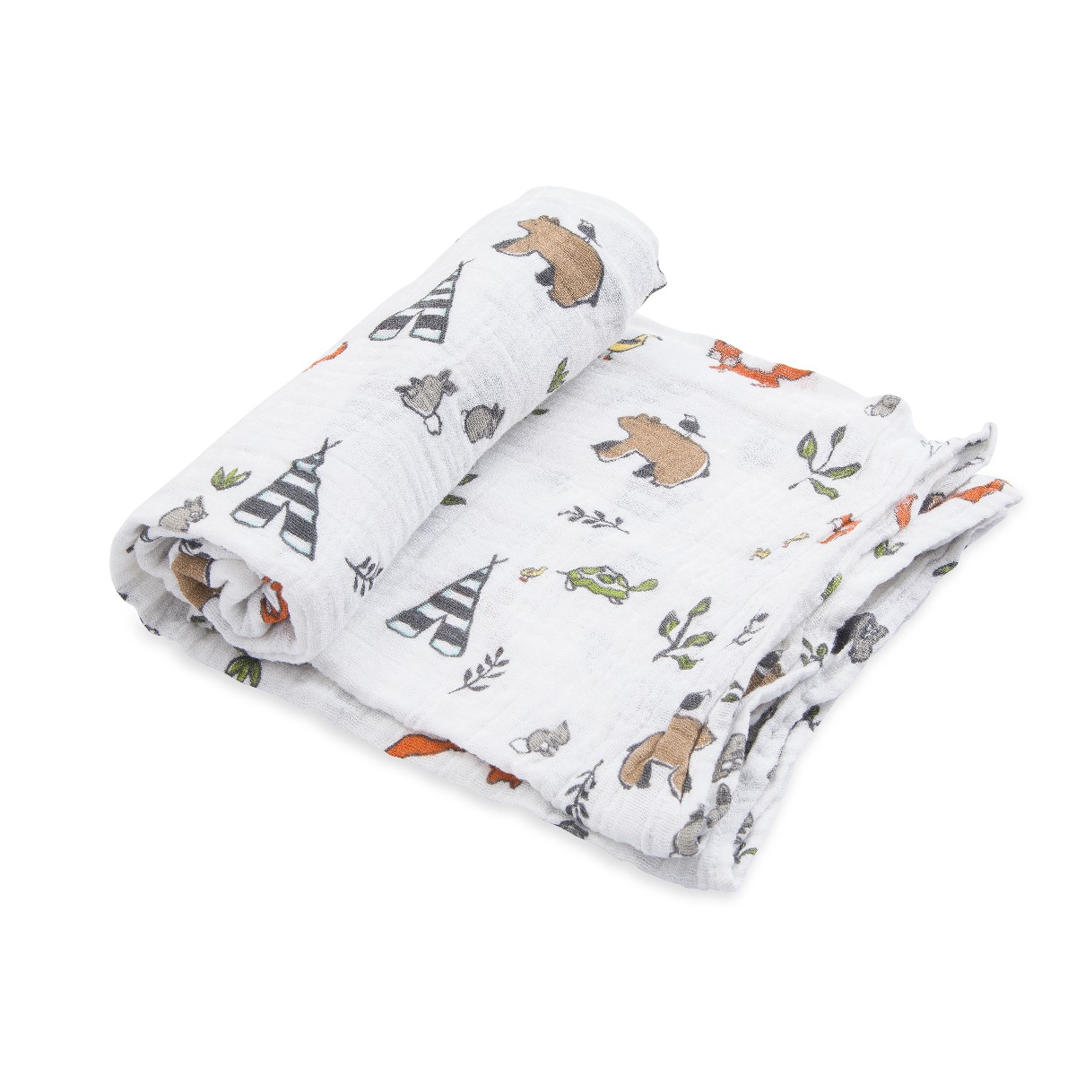 Little Unicorn Cotton Muslin Swaddle Forest Friends