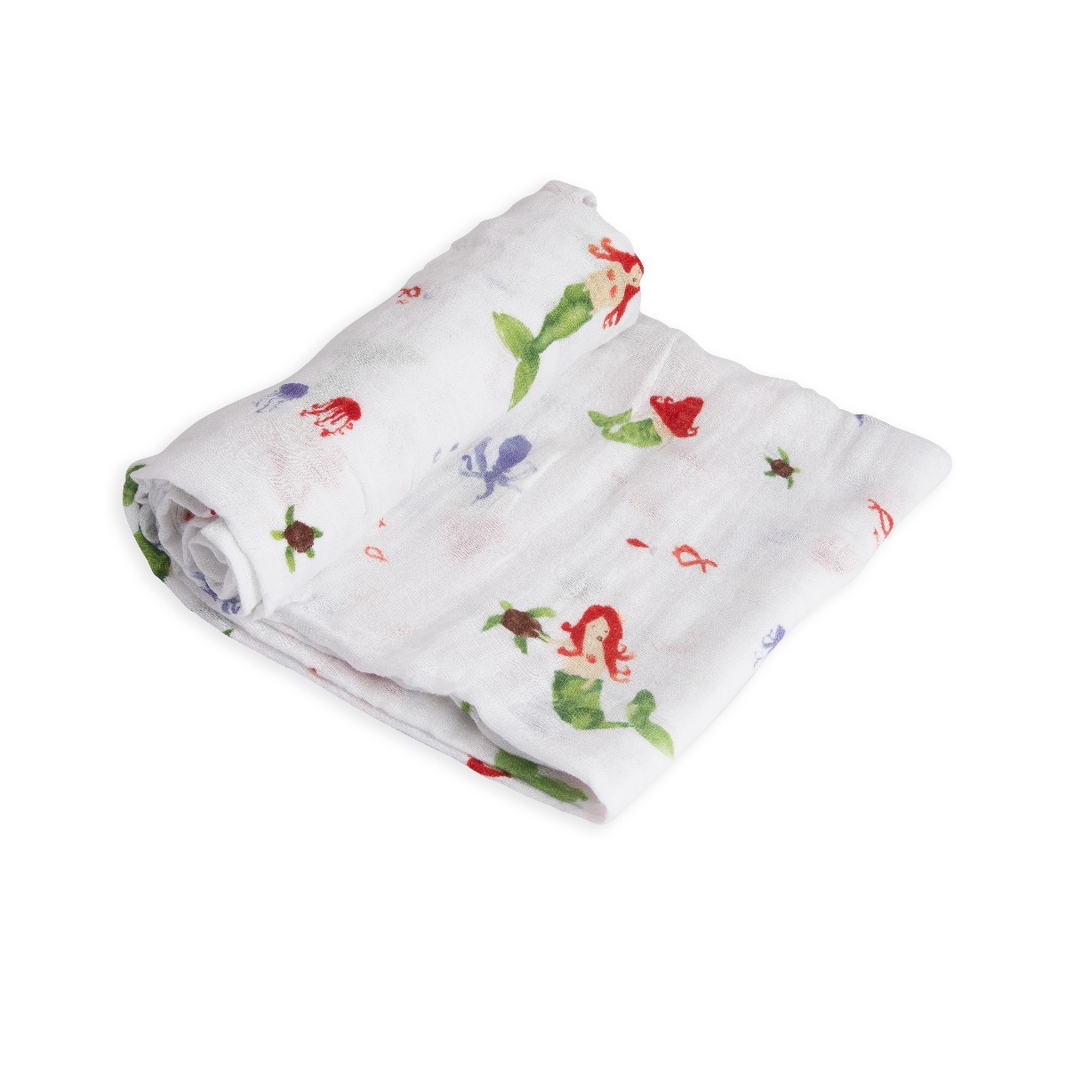 Little Unicorn Cotton Muslin Swaddle Mermaid