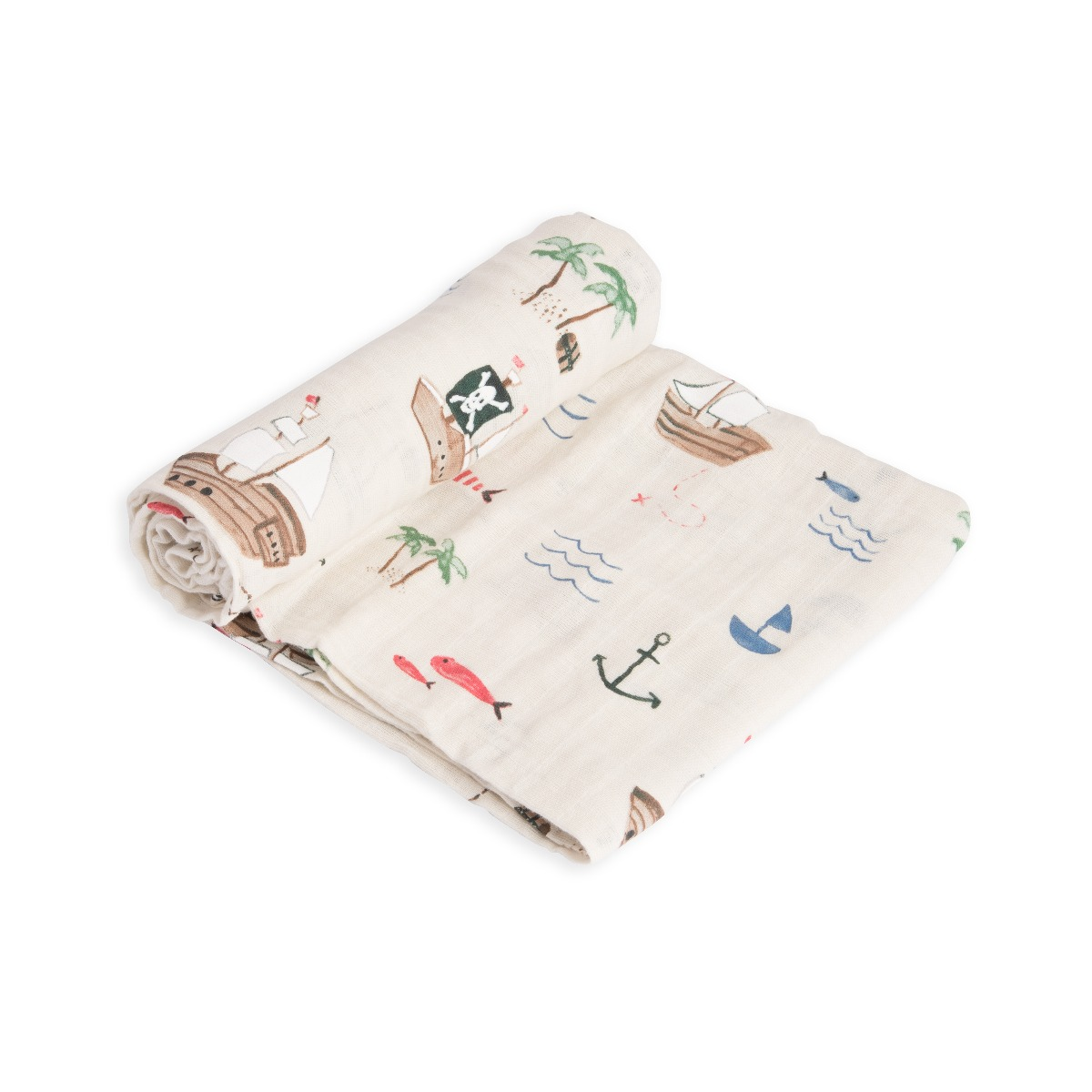 Little Unicorn Cotton Muslin Swaddle Treasure Map
