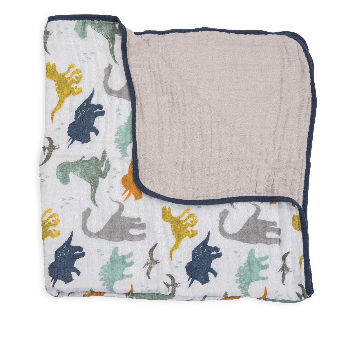 Little Unicorn Cotton Muslin Quilt Dino Friends