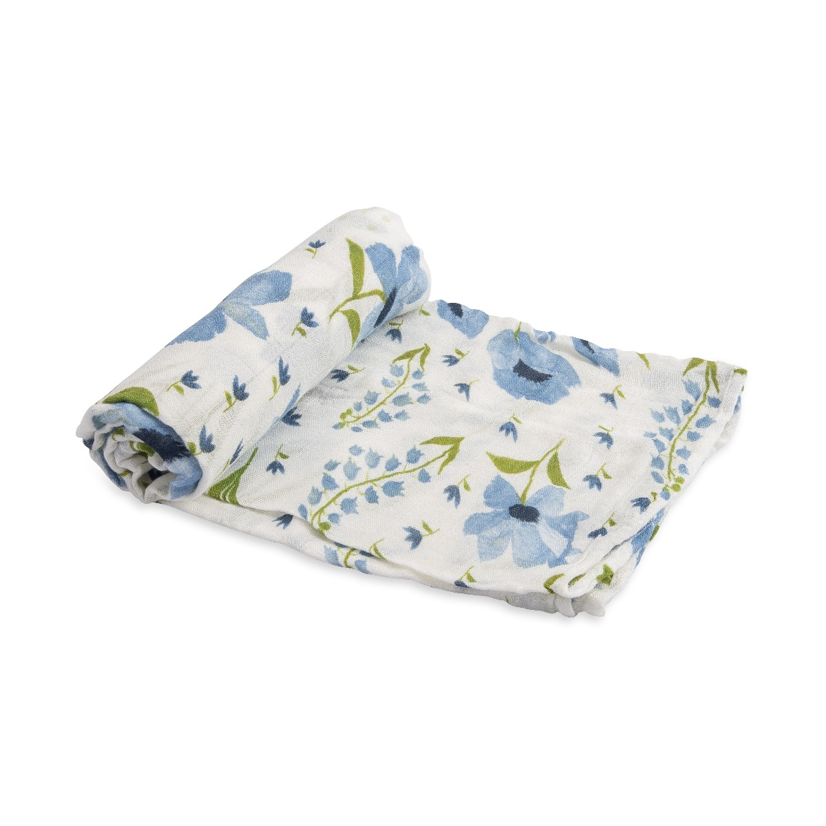 Llittle Unicorn Deluxe Swaddle Blue Windflower
