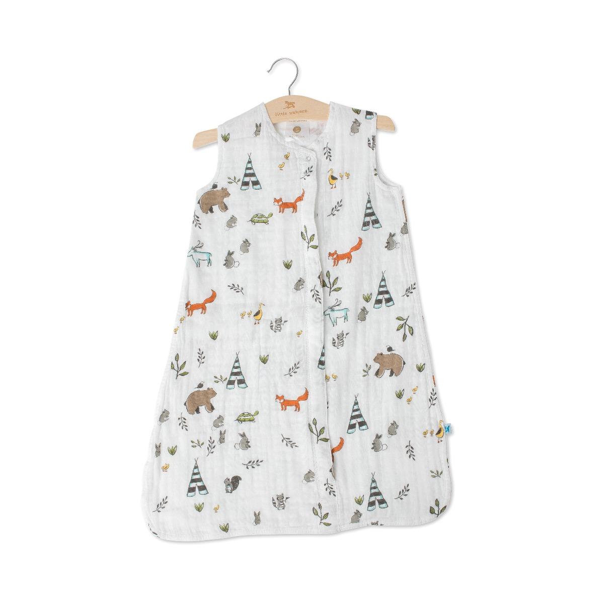 Little Unicorn Cotton Muslin Sleep Bag Small Forest Friends