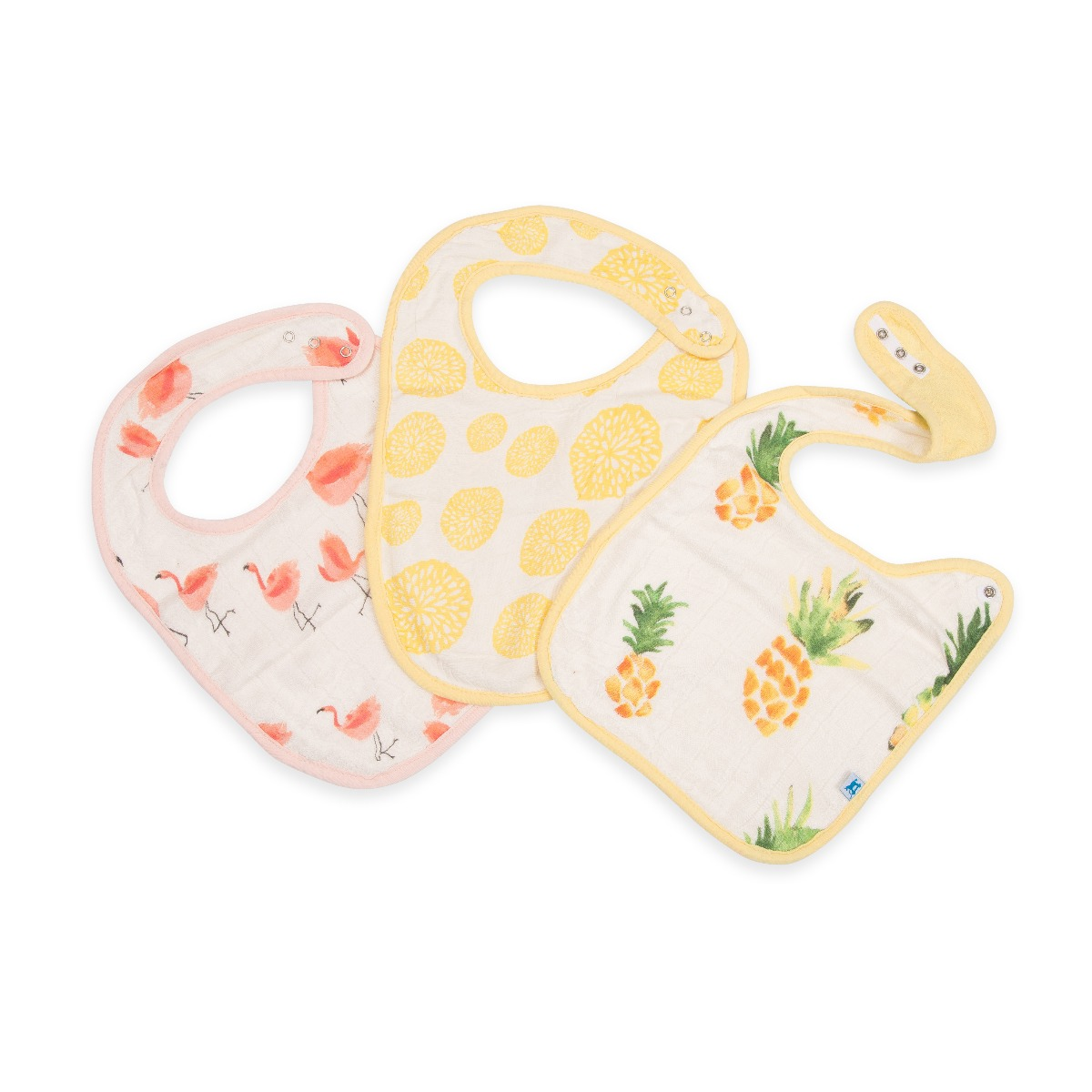 Little Unicorn 3-Pack Deluxe Muslin Classic Bib Set Pink Ladies