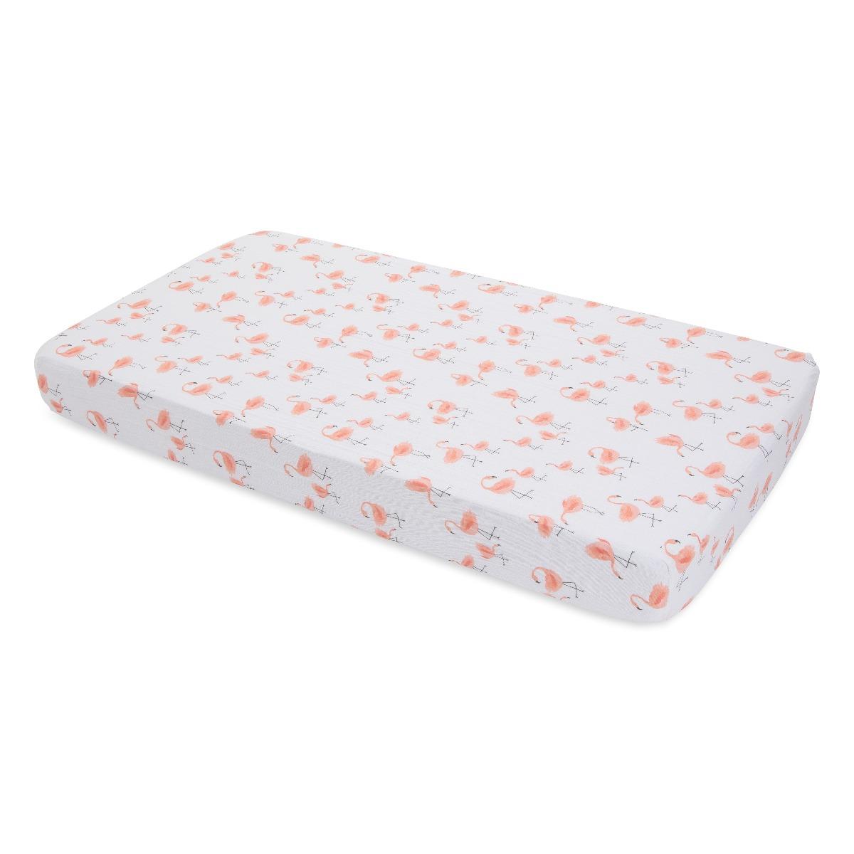 Little Unicorn Cotton Muslin Crib Sheet Pink Ladies