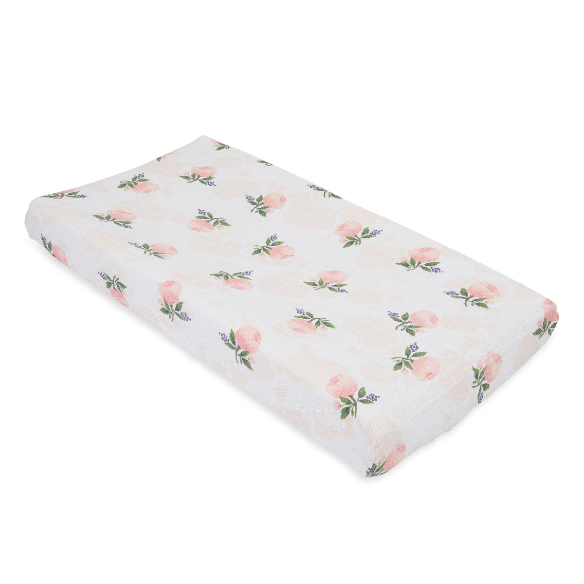 Little Unicorn Cotton Muslin Changing Pad Cover Water Color Rose