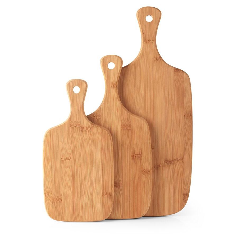 Salter 3-Piece Bamboo Paddle Chopping Board Set