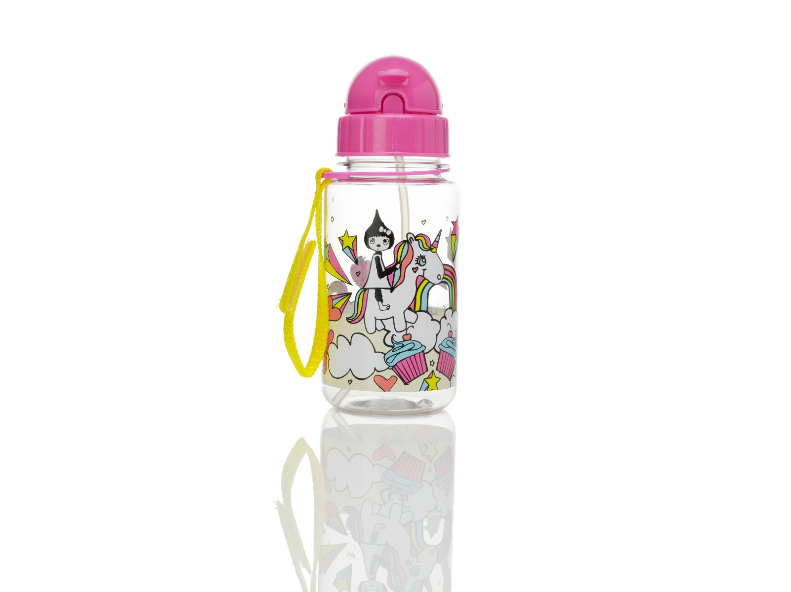 Zip and Zoe Drinking Bottle with Straw Unicorn
