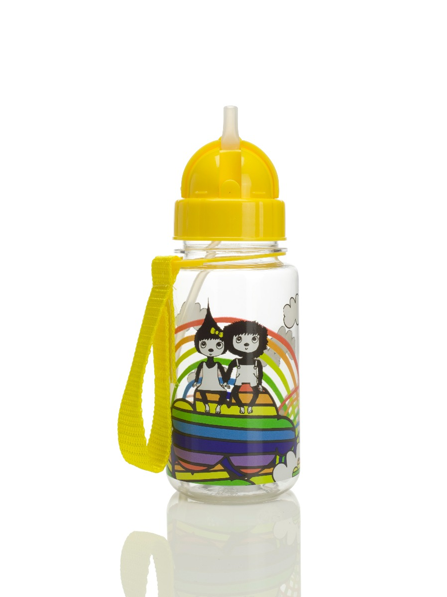 Zip and Zoe Drinking Bottle with Straw Rainbow