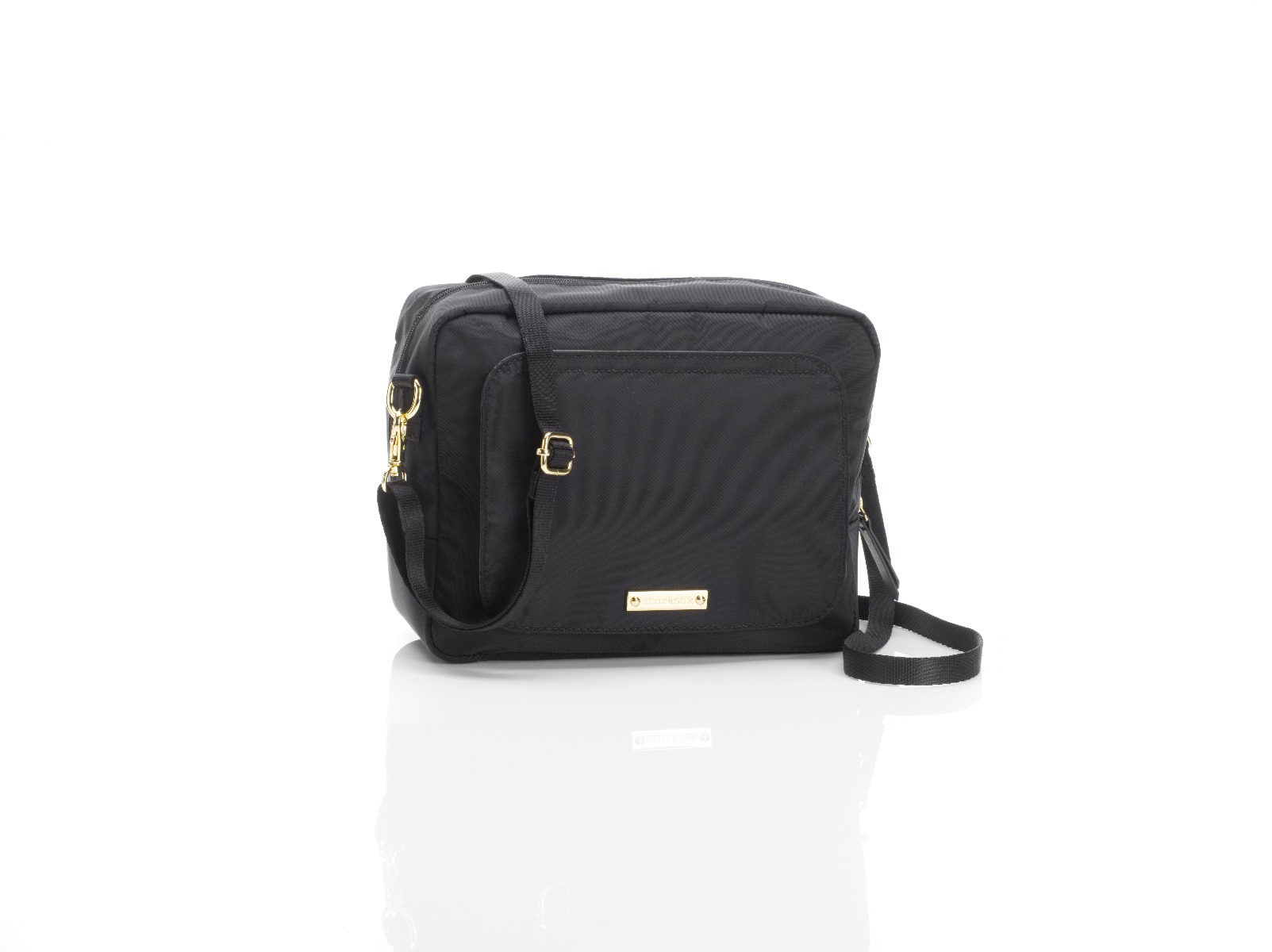Storksak Mini Fix Cross Body Changing Bag Black