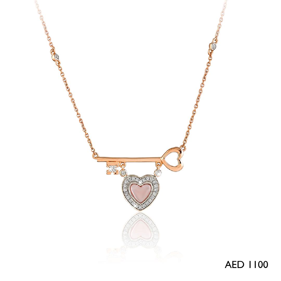 Heart & Key Pendant