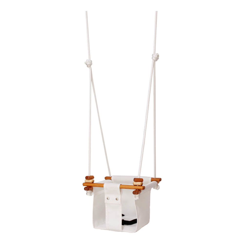 Solvej Baby & Toddler Wood & Canvas Swing - White