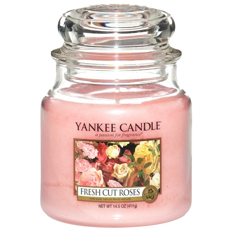 Yankee Candle Fresh Cut Roses Medium Jar Candle