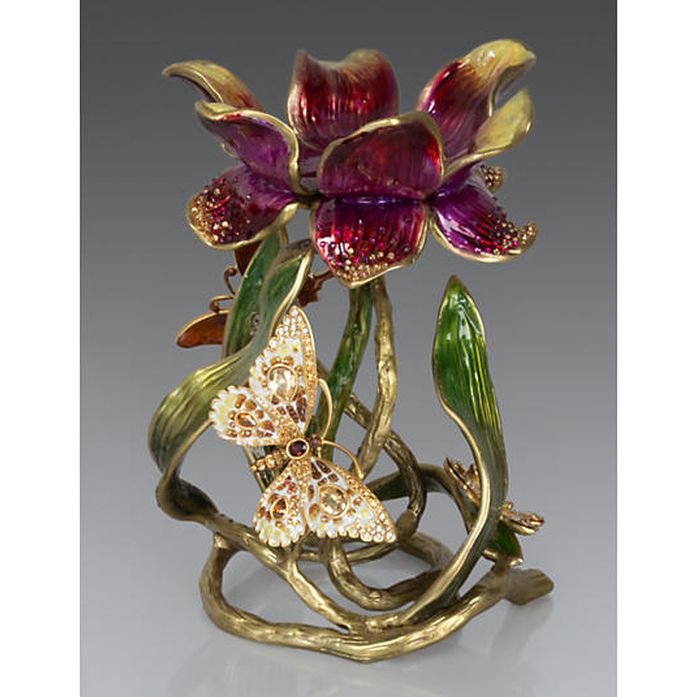 Jay Strongwater Flora & Fauna Candle Holder